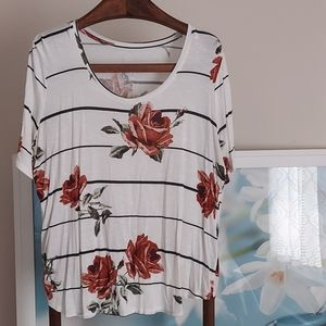 Maurices Floral Striped Top